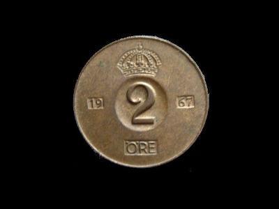 Švédsko - 2 Öre 1967