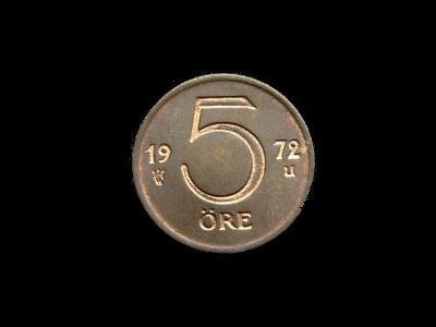 Švédsko - 5 Öre 1972