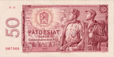 ČSSR 50 korun 1964 serie K13 Slovnaft vzacne