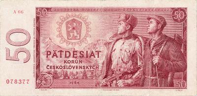 ČSSR 50 korun 1964 serie A06 Slovnaft vzacne