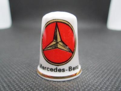 Sběratelský náprstek Reklama - Mercedes-Benz, značka německých automob