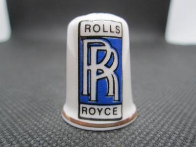 Sběratelský náprstek Reklama - Rolls Royce, značka britských automobil