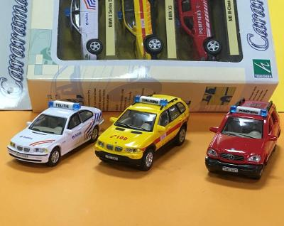 3er pack BMW3 / BMW X5 / MB M-Class  - Cararama Hongwell 1/72 (M17-c1)
