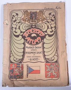 Zeměpisný atlas mládeži školní, včetně podkarpatské Rusi, kolem 1920