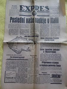 Noviny EXPRES ( 8.10. 1938  ) - OKLEŠTĚNÁ REPUBLIKA .