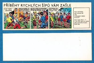 Záložka PŘÍBĚHY RYCHLÝCH ŠÍPŮ VÁM ZAŠLE Puls Ostrava (1970) J. Foglar