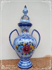 *** Luxusní porcelánová dekorativní xxl dóza Portugal  ***
