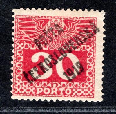 Pč 1919/70, typ II, doplatní velká čísla 30h, Atest Vrba /19.60678