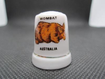 Sběratelský náprstek Austrálie - fauna - Vombat