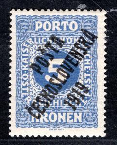 Pč 1919/81, typ I, doplatní malá čísla, modrá 5 K, dvl -  zko/19.61226