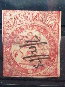 Anglické/Britské kolonie-Tasmanie, raženo (A284)