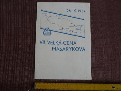 PAMĚTNÍ RAZÍTKA-VII. VELKÁ CENA MASARYKOVA BRNO 1937