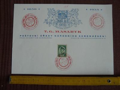 PAMĚTNÍ ARŠÍK S RAZÍTKY T.G.MASARYK 1935