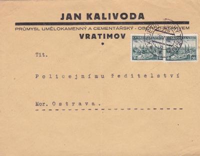 Předběžná, firemní Vratimov (Frádek-Místek), vlaková pošta 776,Kojetín