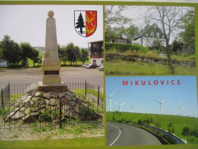 Mikulovice Nová Ves v Horách větrné elektrárny MO