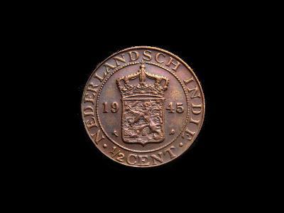 Holandská Indie - 1/2 Cent 1945