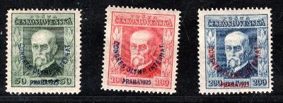 Masaryk 1923/180 - 2, Olympijský kongres, kompletní řada /19.65914