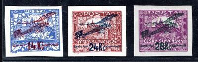 Letecké 1920/L 1 - 3, letecké, kompletní svěží řada, L 2 typ /19.66306