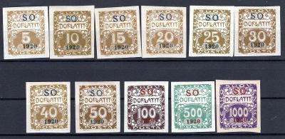 So 1920/SO 33 - 43, doplatní, kompletní řada/19.66338