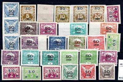 So 1920/sestava svěžích  známek s přetiskem SO 1920 na destič/19.66362