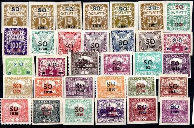 So 1920/sestava neupotřebených  známek s přetiskem SO 1920 na/19.67594