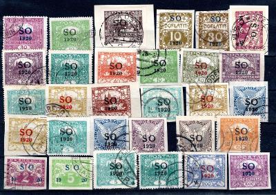 So 1920/sestava známek s přetiskem SO 1920 na destičce formát/19.67684