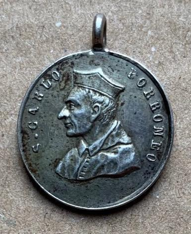 Svatý Karel Boromejský stříbro svátostka Ag medailon medaile TOP č.7