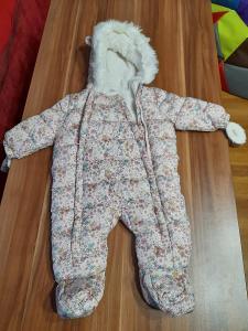Zimní kojenecká kombinéza dívčí 3-6 mesicu Fred a flo