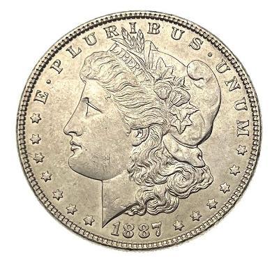 USA Morgan dollar 1887 - pěkný