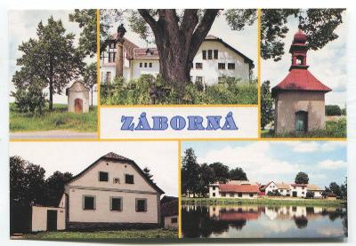 ZÁBORNÁ, Polná, o. Jihlava - socha, vesnice s 263 obyvateli