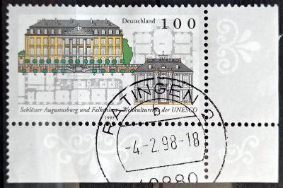 DEUTSCHLAND: MiNr.1913 Augustusburg and Falkenlust Castles 100pf 1997