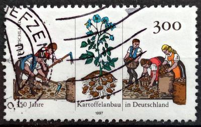 DEUTSCHLAND: MiNr.1946 Potato Plant and Harvest Work 300pf 1997
