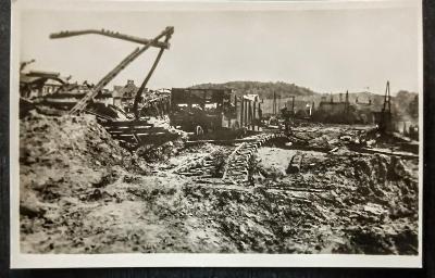 Klatovy-Bombardované nádraží 20 dubna 1945 TOP STAV