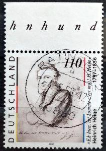 DEUTSCHLAND: MiNr.1962 Heinrich Heine 110pf, HK 1997