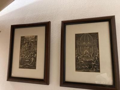 Barokní párové obrazy - večeře páně