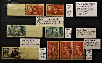 FRANCIE/jednotlivá vydání/1935-41/Mi:301-507/raz./(popis viz. foto).
