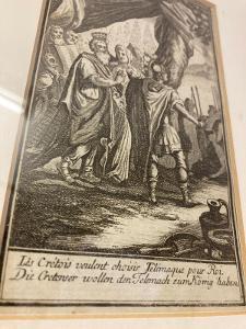 Barokní obraz - rytina signováno