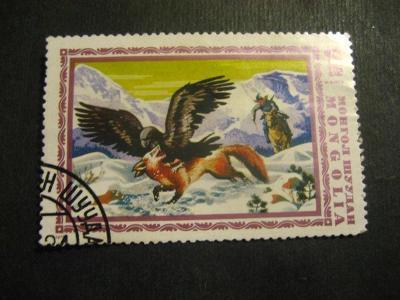 Mongolsko fauna ptáci ražené od korunky