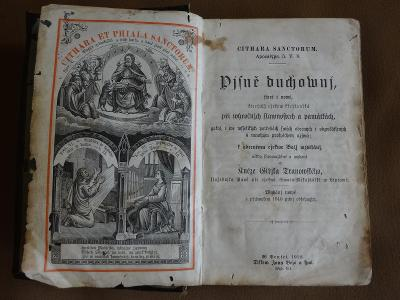 Stará kniha Písně duchovní Cithara Sanctorum