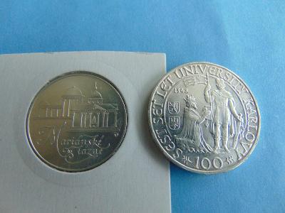 Pamětní Mince - 2 Ks Stříbro - Krásné - Od Koruny