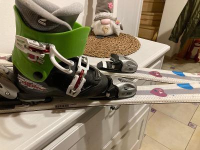 Dětské holčičí lyže elan 100cm boty alpina vel.30