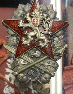 Odznak akademie 1954 ČSR ag #504