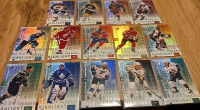 Kompletní set insertních karet - Spx 99/00 Highlights heroes