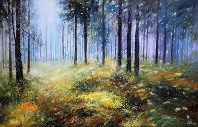 Brdy - Lesní zákoutí - orig. akryl 116x75 cm