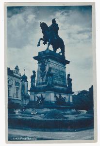 PODĚBRADY v barvě, rok 1940,foto Švec, Nymburk
