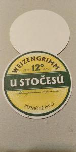 76 tácek pivovar U Stočesů