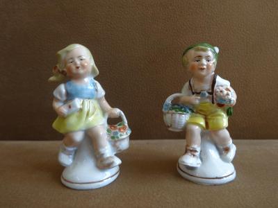 Stará porcelánová figurka Germany 2 ks - chlapec a dívka