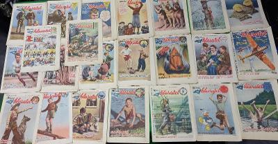 Časopisy Mladý hlasatel - Rychlé šípy - 23 ks ročník IV čísla 14 až 36