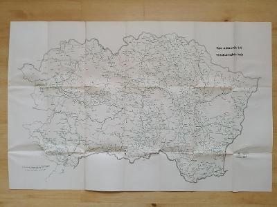 Mapa autobusových tratí Východoslovenského  kraja  1964