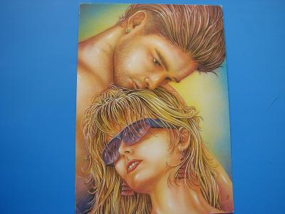 ŽENA Žena Dívky Muž Láska Romantika Kreslená